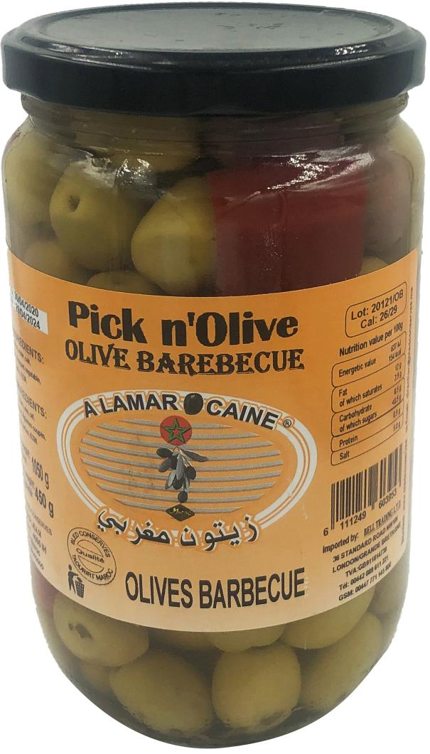 Green Olives Barbecue 450g