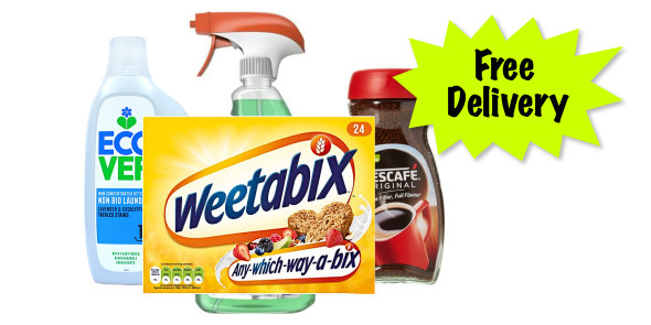 free delivery* (min spend £15)